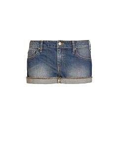 Short denim lavado oscuro