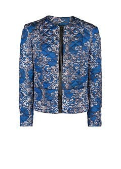 Quilted printed jacket