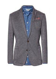 Raw-edge jersey blazer