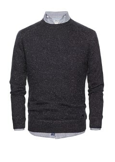 Flecked cotton silk-blend sweater