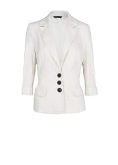 Cotton cropped blazer