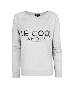 Sequined letters sweater