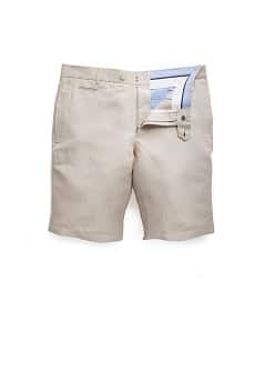 Linen cotton-blend bermuda shorts