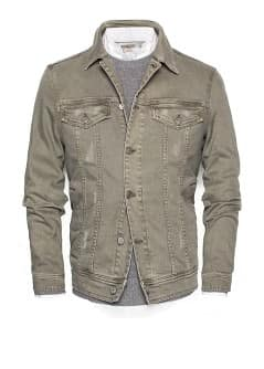 Khaki wash denim jacket