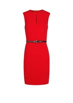 Snake belt pencil dress