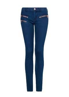 Zip super slim-fit dark jeans