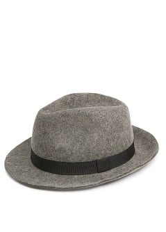 Grosgrain ribbon wool borsalino
