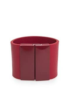 LEATHER EFFECT CUFF