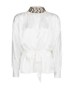 Satin beaded blouse