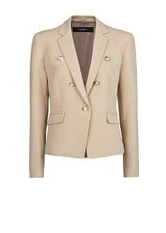 Emblem button blazer