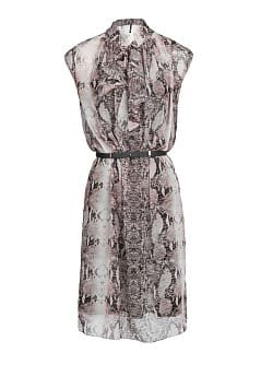Snakeskin print chiffon dress