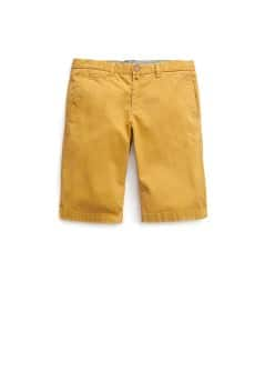 Washed cotton-blend bermuda shorts