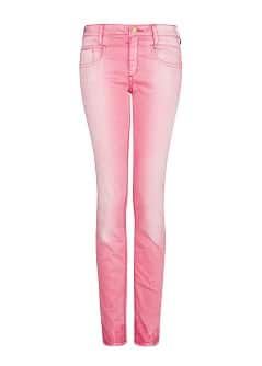 DISTRESSED EFFECT SLIM-FIT TROUSERS