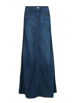 DARK WASH DENIM SKIRT
