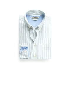Camisa straight-fit Oxford rayas