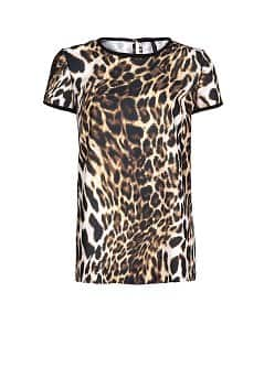 LEOPARD PRINT FLOWING SHIRT