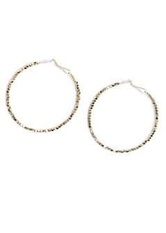 Metal beads hoop earrings