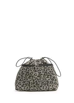 Leopard print interior bag