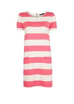 Straight-fit wide striped dress