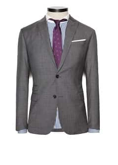 Bird's eye suit blazer