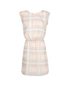 Wrap back check dress