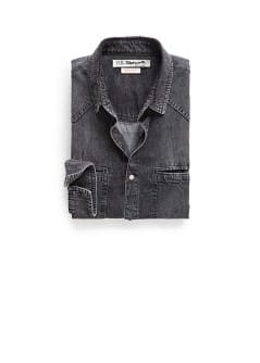 Chemise slim-fit denim gris
