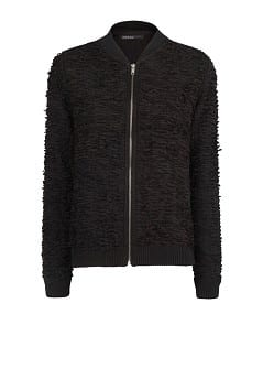 Textured bomber jacket