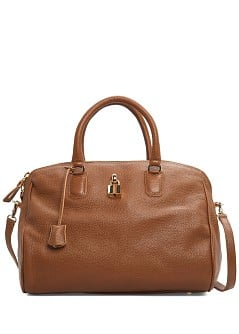 Padlock leather tote bag