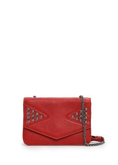 Studded small shoulder bag
