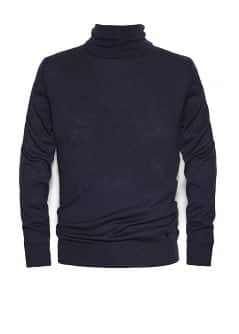 Silk wool-blend turtleneck sweater