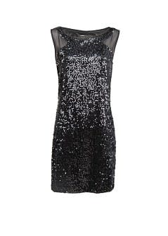 Contrast panel sequin dress