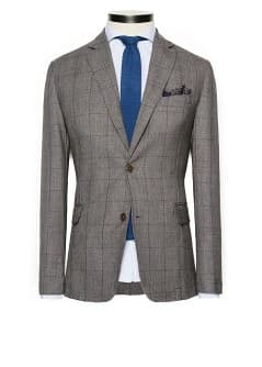 Unstructured Prince of Wales blazer