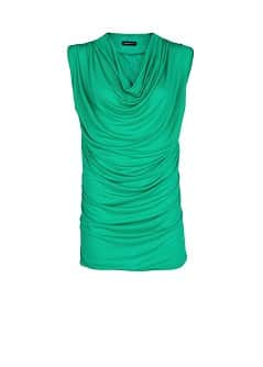 DRAPED NECKLINE TOP