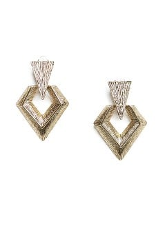 Embossed arrow earrings