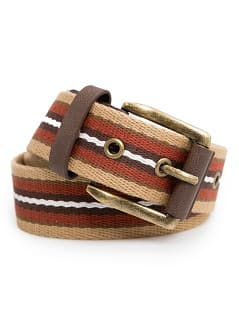 STRIPED CANVAS BELT