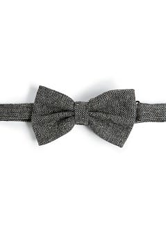 WOOL-BLEND FLECKED BOW-TIE