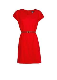 Short sleeved belt dress