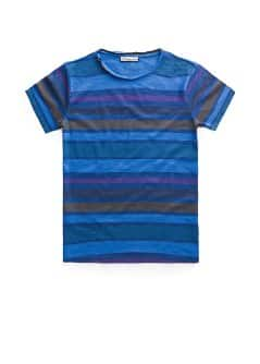 Striped slub-cotton t-shirt
