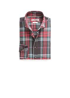 Slim-fit twill check shirt