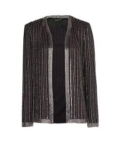 Beaded chiffon jacket