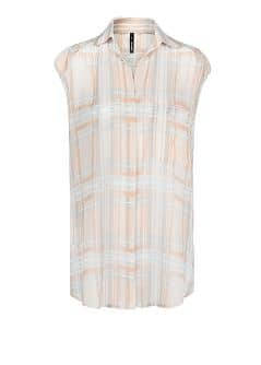Checked chiffon shirt