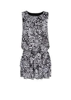 Animal print chiffon dress