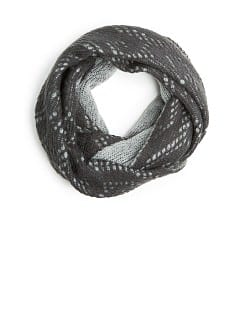 REVERSIBLE OPENWORK KNIT SNOOD