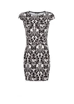 Jacquard bodycon dress