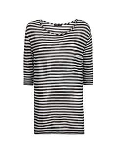 Cotton modal-blend striped t-shirt