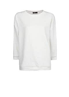Sweat-shirt coton jacquard