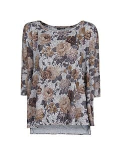T-shirt oversized estampado floral