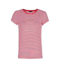 STRASS LOGO STRIPED T-SHIRT