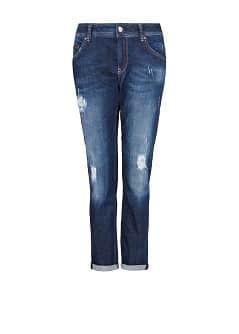 Slim boyfriend dark wash jeans