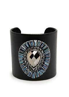 Crystals covered cuff